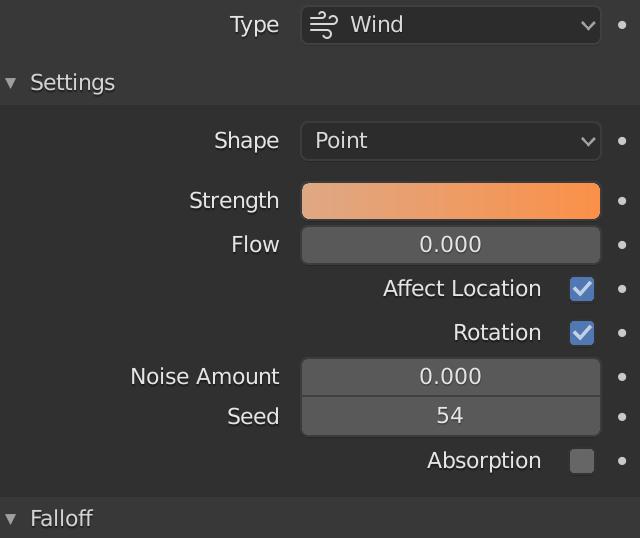 Blender Force Wind