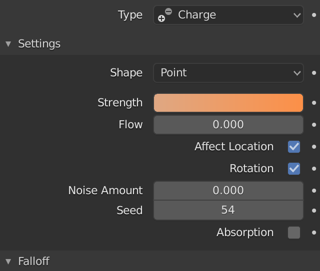 Force Charge Settings Strength