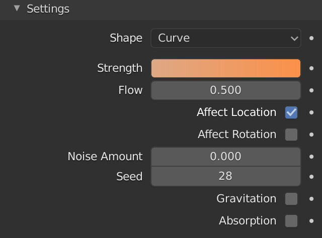 Blender Force Field Flow