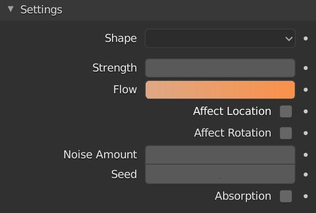 Blender Force Field Curve Flow