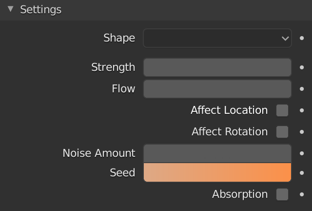 Blender Force Field Vortex Seed