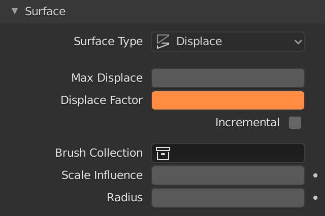 Blender Dynamic Pâint Displace Factor