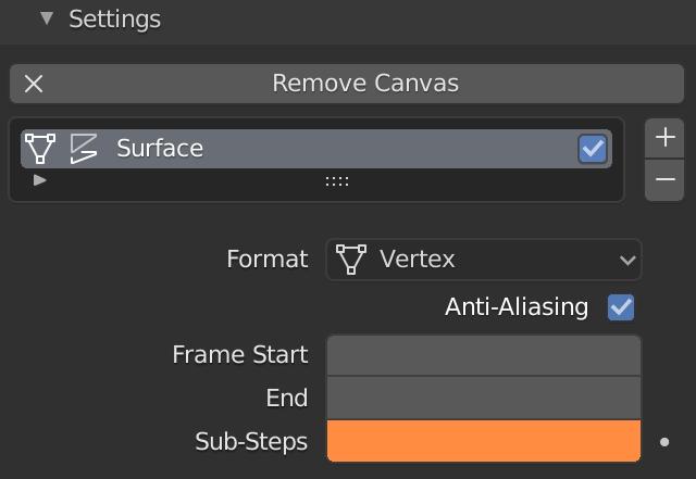 Blender Dynamic Pâint Sub Steps