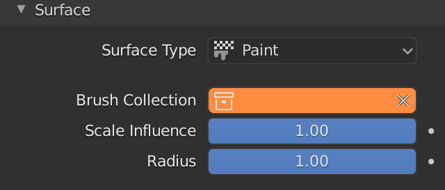 Blender Dynamic Paint Brush Collection