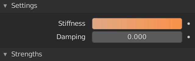 Blender Soft Body Goal Stiffness