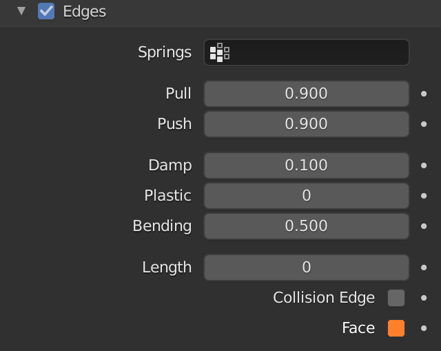 Blender Soft Body Edges Face