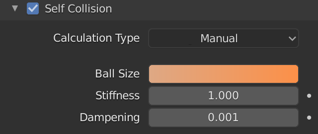 Blender Soft Body Self Collision Ball Size