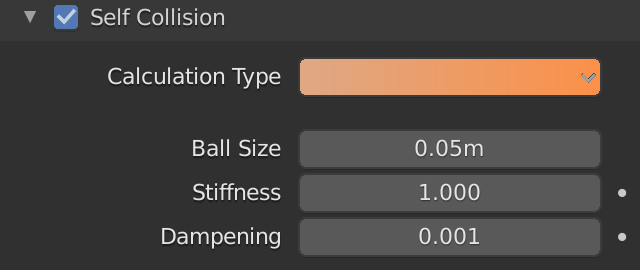 Blender Soft Body Self Collision Calculation Type