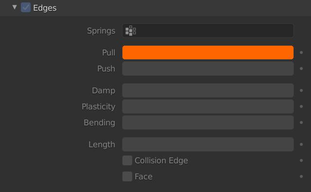 Blender Soft Body Edges Pull