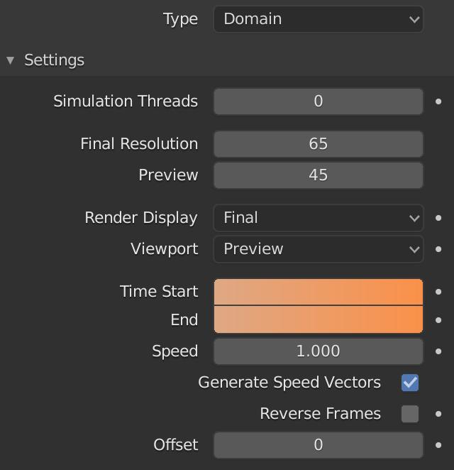 Blender Fluid Domain Start Time