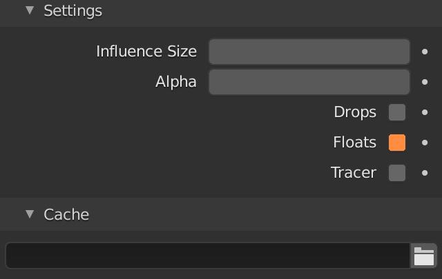 Blender Fluid Particle Floats