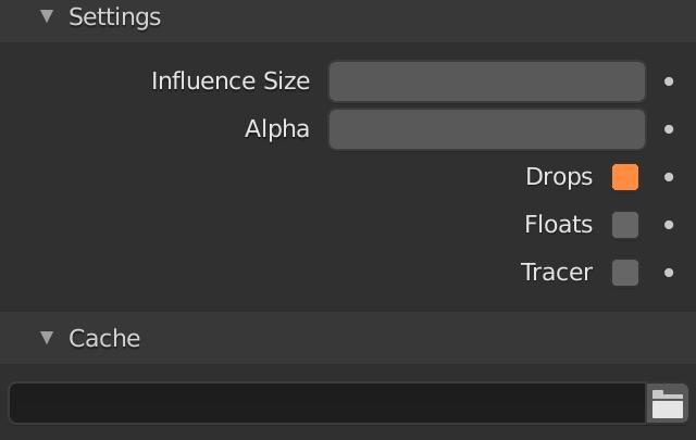 Blender Fluid Particle Drops