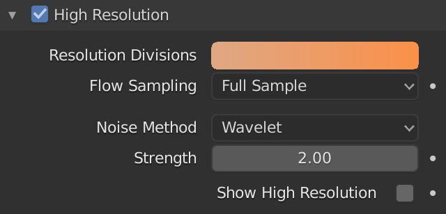 Blender Smoke High Resolution Divisions