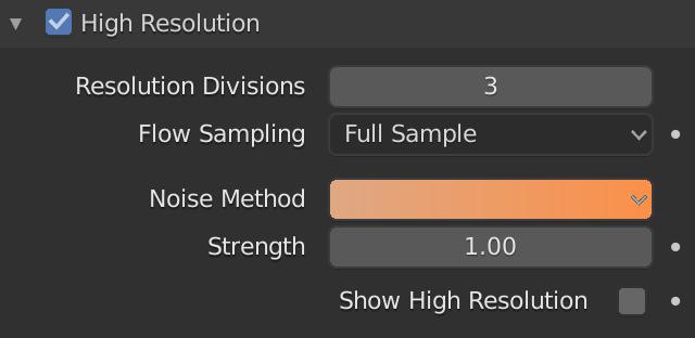 Blender Smoke High Resolution Noise Method