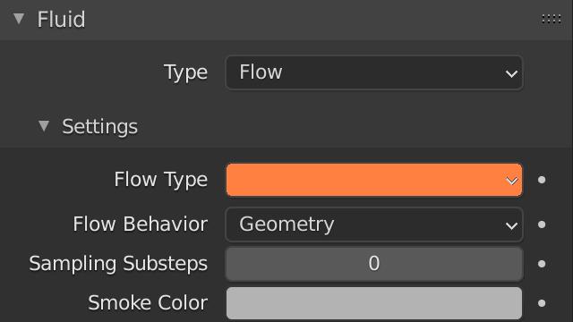 Blender Smoke Flow Type