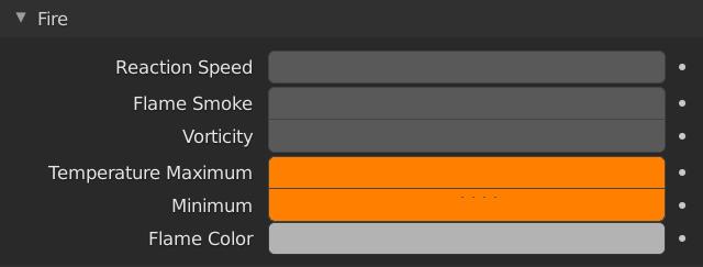 Blender Smoke Flames Temperature Maximum Minimum Ignition
