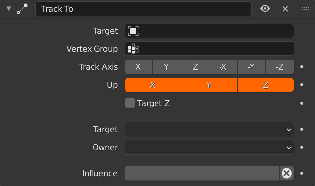 Blender Track To Axis Up