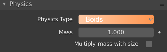 Blender Physics Boids