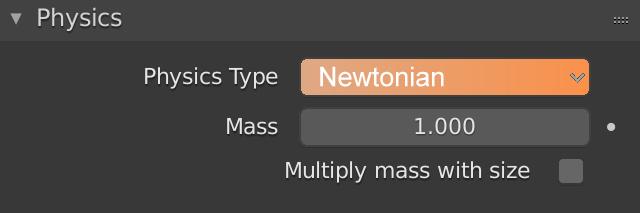 Blender Physics Newtonian