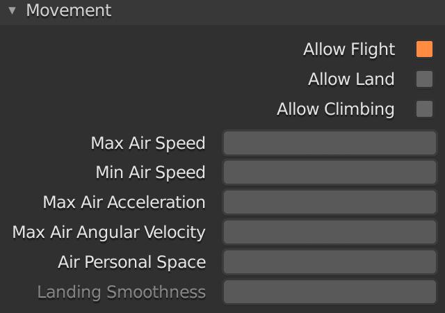 Blender Emitter Allow Flight