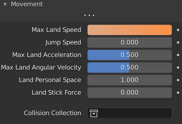 Blender Boids Maximum Land Speed