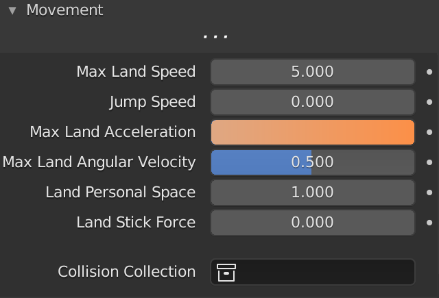 Blender Boids Max Land Acceleration