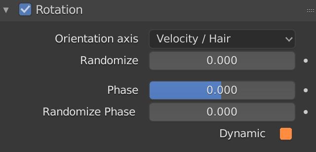 Blender Particle Rotation Dynamic