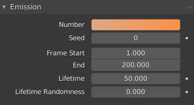Blender Particle Emission Number