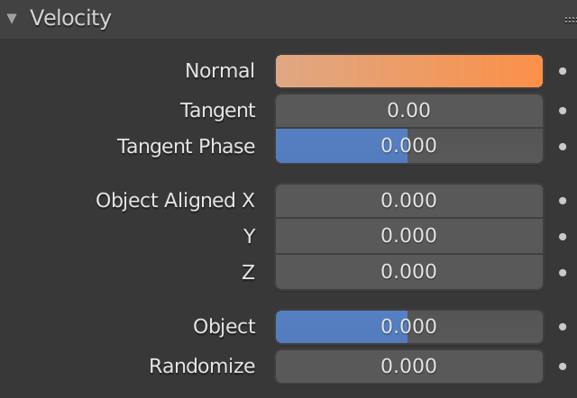 Blender Particle Velocity Normal