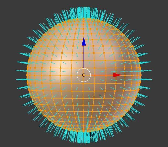 Blender Sphere Normals