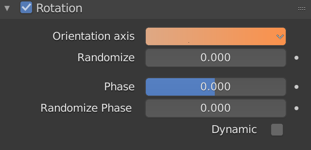 Blender Particle Rotation Axis