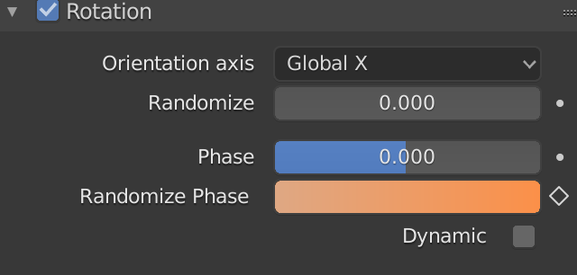 Blender Particle Rotation Randomize Phase