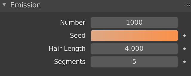 Blender Hair Emission Seed