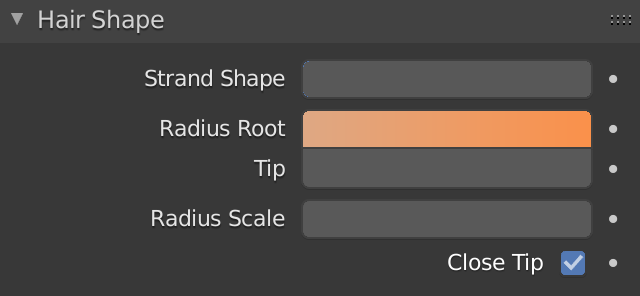 Blender Hairs Radius Root