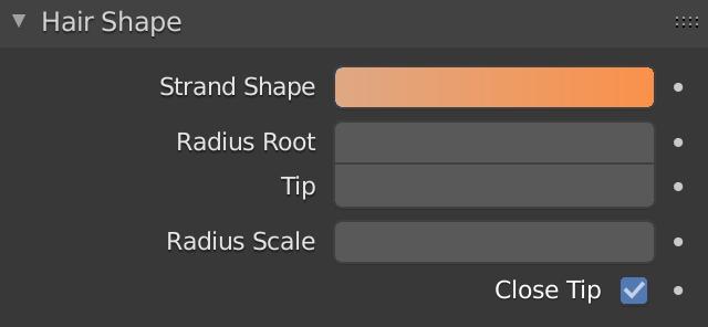 Blender Hairs Shape Strand