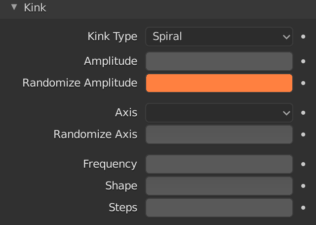 Blender Hair Kink Randomize Amplitude