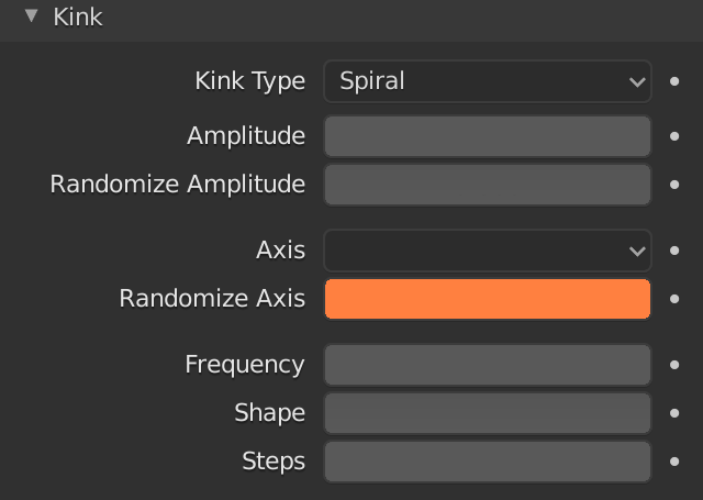 Blender Hair Children Kink Randomize Axis