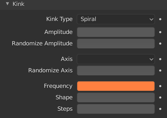 Blender Hair Children Kink Frequency