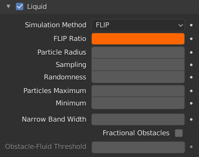 Blender Domain Liquid Flip Ratio