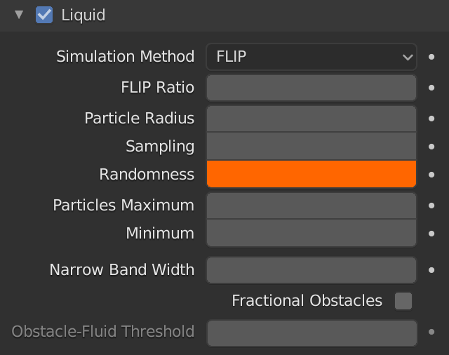 Blender Domain Liquid Particle Randomness
